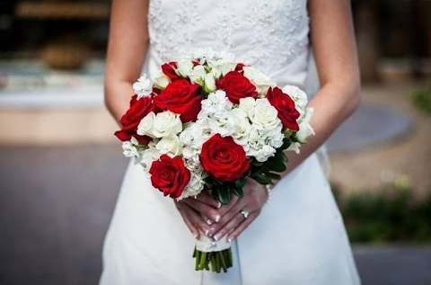 Wedding Flowers & Bouquets, Red bouquet wedding