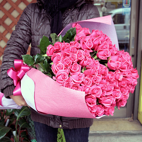 Pink Rose Bouquet, Send Pink Roses, Bunch of Pink Roses