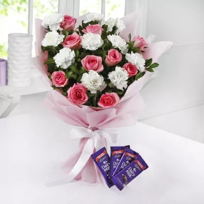 Chocolates and Flower Bouquets, Chocolates Bouquet Online