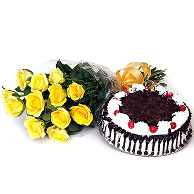 Flowers with delicious cakes