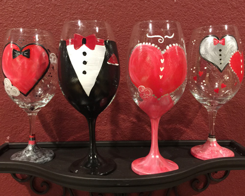 Personalized wine or champagne glass