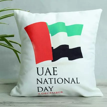 Uae Flag Pillows, Cute Cushions, White Cushion Covers, UAE Flag Printed Cushion