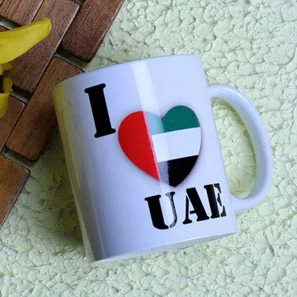 I Love UAE with Flag Mug,Gift I Love UAE Mug