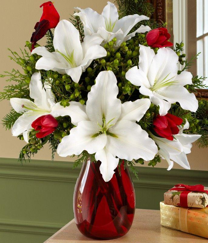 Christmas White lilies