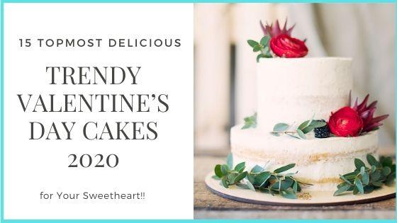 2020 valentine cake