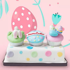 Belgian Chocolate Easter Cupcakes 3 Pcs