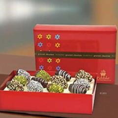 Chocolate Dates with Mixed Toppings