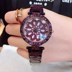 Czech Crystal Purple Watch