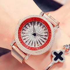 Korean Diamond Star Rose Gold Watch