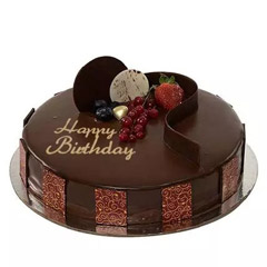 500gm Chocolate Truffle Birthday Cake
