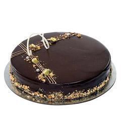 Eggless Hazelnut Chocolate Cake