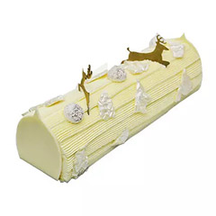 Vanilla Christmas Log Cake 8 Portions