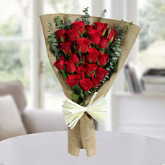 22 Red Roses Bunch