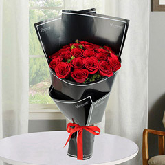2 Dozen Red Roses Bunch