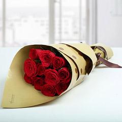1 Dozen Love Red Roses Bunch