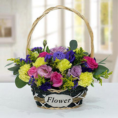 Vibrant Flower Basket