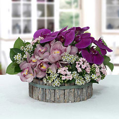 Impressive Pink N Purple Flower Arrangement