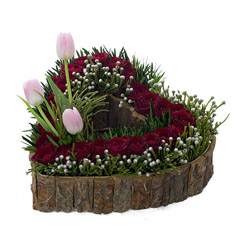 Mesmerizing Tulips N Rose Flower Arrangement