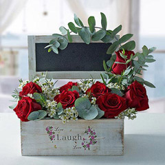 Sweet Flower Arrangement With Personalized Message