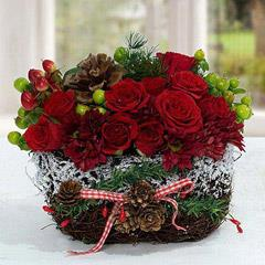 Exotic Christmas Flower Arrangement