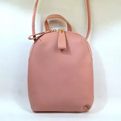 Double Zipper Classy Pink Bag