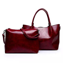 Set of 2 Maroon Shoulder Bags