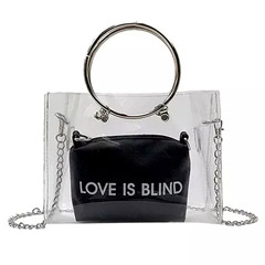 Love Is Blind Transparent Crossbody Bag