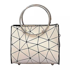 Stylish White Tote Bag