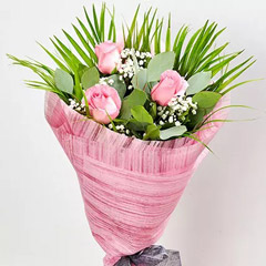 Splendid Pink Rose Bouquet
