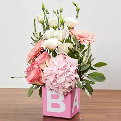 Vase Arrangement Of Pastel Flowers