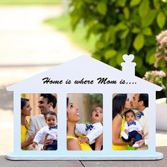 Home Shaped Personalized Frame
