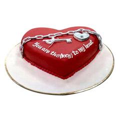 Key N Heart Cake
