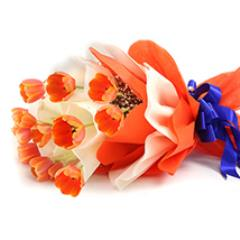 Dozen Orange Tulip