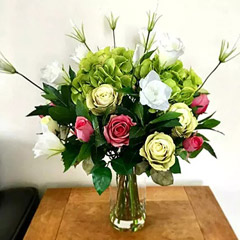 Real Touch Artificial Flower Vase