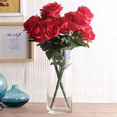 Artificial Red Roses Vase