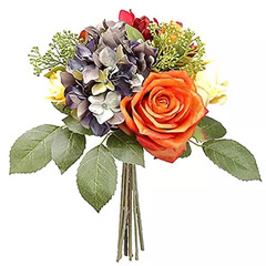 Bunch Of Colourful Artificial Flowers