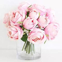 Artificial Pink Roses Vase