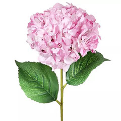 Bunch of 5 Pink Artificial Hydrangea
