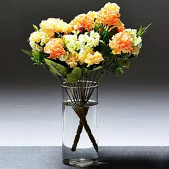 Artificial Mix Coloured Carnations