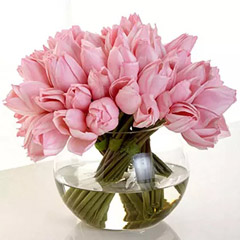 Artificial Real Touch Pink Tulips