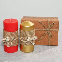 Pillar Candles In A Gift Box