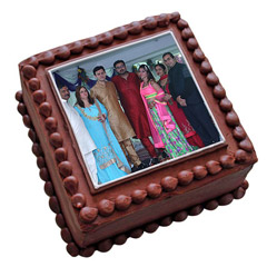 Square Photo Cake