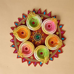 Colorful Diyas For Diwali