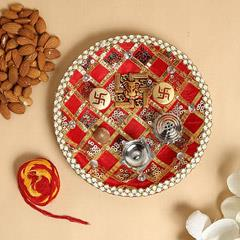 Pooja Thali With 250gms Almonds