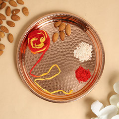 Pooja Thali With 100gms Almonds