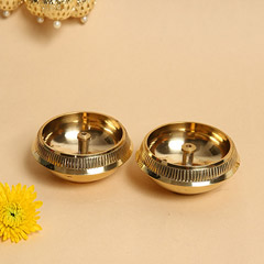 Set of 2 Brass Diyas