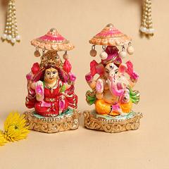 Idols of Laxmi Ganesha