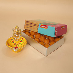 Motichoor Laddoo and Ganesha Diya Combo