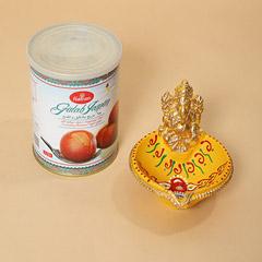 Gulab Jamun and Ganesha Diya Combo