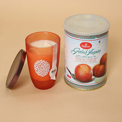 Gulab Jamun and Decorative Candle Combo